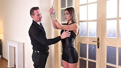 Submissive slut Alyssa Reece tied up and ass fucked by her BDSM master GP1270