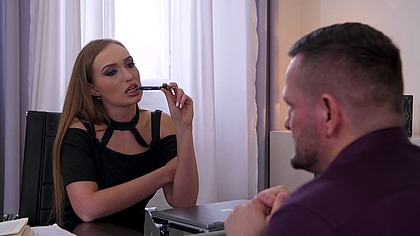 Sex therapist Lisa Bilberry crams her client's huge cock in her asshole GP1414