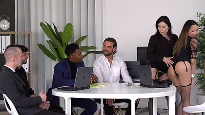Hardcore DP Interracial Orgy with Slutty Spanish Real Estate Brokers Francys Belle and Valentina Bianco GP1955