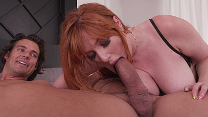 Redhead Lauren Philips Takes Revenge of Cheating BF by Getting DPd by His Brother & Friend