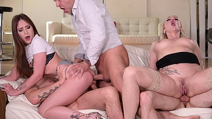 Hardcore DP Mother Daughter Orgy with Brittany Bardot and Mina GP1940