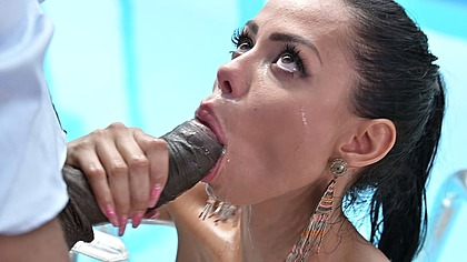 Exotic Latina Canela Skin gets deep anal sex with manservant's black cock GP1490