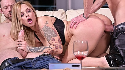 Delicious Dominno Cucks Her Husband by Using His Money to Film 2 Studs Banging Her GP1816