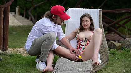 Horny Teen on the Green is a Sure Shot Hole in One GP1513