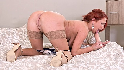 Raunchy redhead Veronica Avluv gets ass fucked with cock and a huge dildo