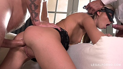 Petite whore Gina Gerson gets Dominated, Ass Fucked and DP'ed Hard! GP069