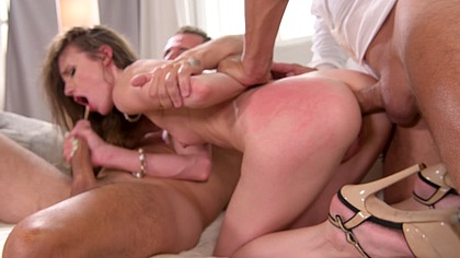 Young petite slut Nelya can't wait to get double penetrated real hard GP1151