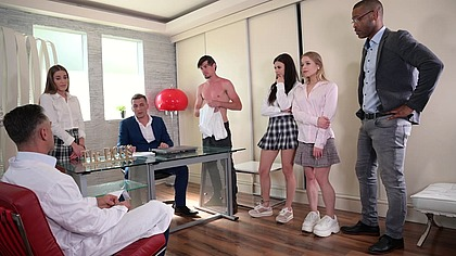 Wild Interracial Orgy with Medical Students Billie Star, Eveline Dellai, and Alexa Flexy GP1936