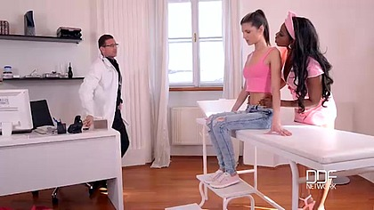 Fetish Examination - Dominant Doc And Nurse Fuck Young Patient