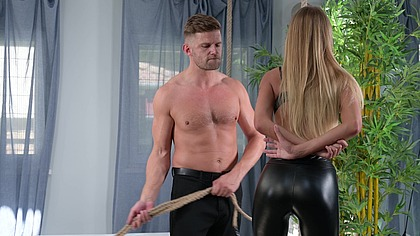 Severe BDSM Punishment Sees Zlata Shine Whipped, Bound, Choked, and Stretched Out GP2051