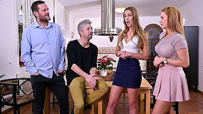 Swingers Party with Sexy Czech Babes Alexis Crystal & Katarina Rina Goes All Out GP1781