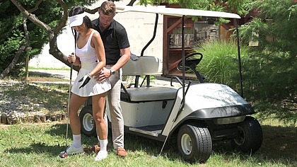 Hole In One: Asia Vargas publicly fucked and facialized by stud golf instructor GP1976